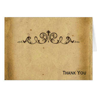 Antique Scroll Card