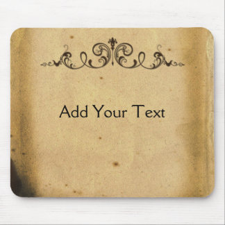 Antique Scroll Mouse Pad