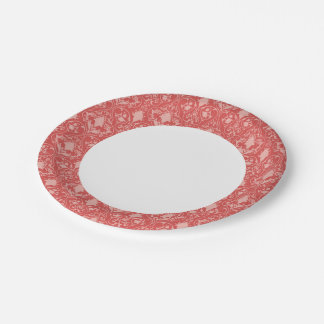 Antique scroll wallpaper 2 7 inch paper plate