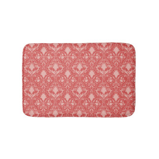 Antique scroll wallpaper 2 bath mats