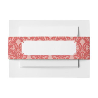 Antique scroll wallpaper 2 invitation belly band