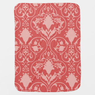 Antique scroll wallpaper baby blanket