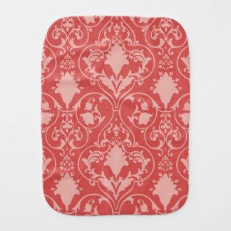 Antique scroll wallpaper burp cloth