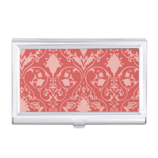 Antique scroll wallpaper business card holder