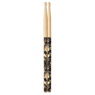 Antique scroll wallpaper drumsticks