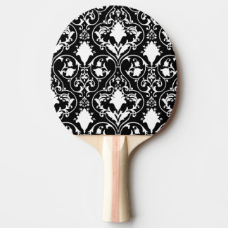 Antique scroll wallpaper ping pong paddle
