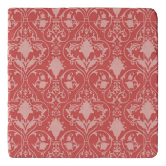 Antique scroll wallpaper trivet
