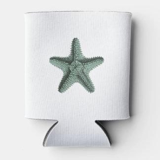 Antique Sea Starfish Illustration Can Cooler