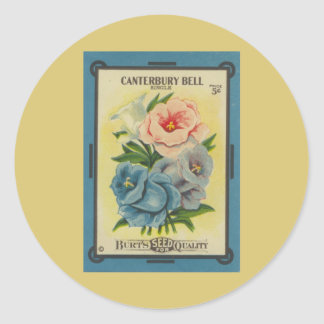 Antique Seed Packet: Canterbury Bells Sticker