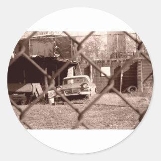 antique sepia tone car picture stickers