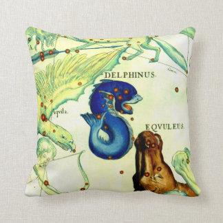 Antique Serpent Creatures Map Art Vintage Fantasy Cushion