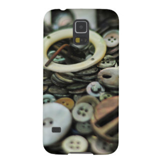 Antique Sewing Buttons and Buckles Too Case Galaxy S5 Covers