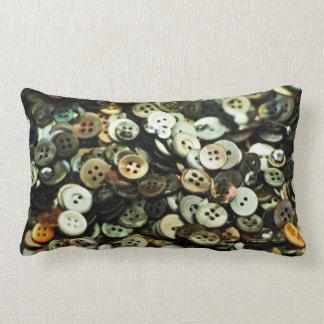 Antique Sewing Buttons Lumbar Pillow Cushions