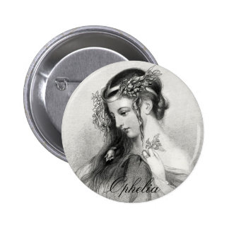 Antique Shakespeare Ophelia John Hayter Portrait 6 Cm Round Badge
