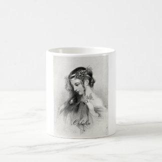 Antique Shakespeare Ophelia John Hayter Portrait Coffee Mugs