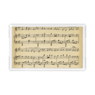 Antique Sheet Music Acrylic Tray