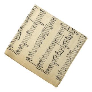 Antique Sheet Music Bandana