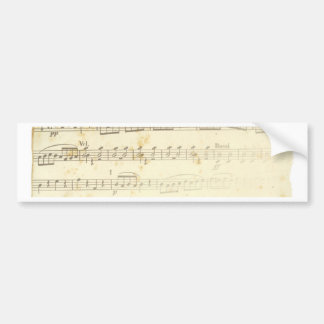Antique Sheet Music Bumper Sticker