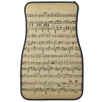 Antique Sheet Music Floor Mat