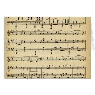 Antique Sheet Music Card