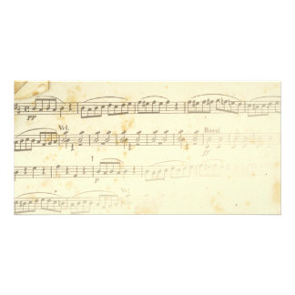Antique Sheet Music Card