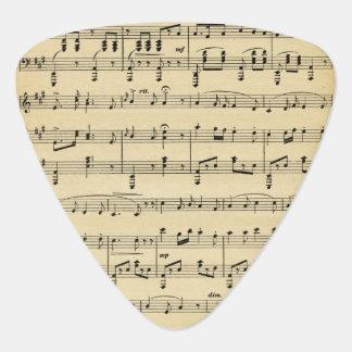 Antique Sheet Music Plectrum