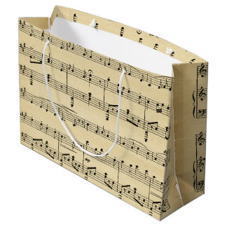 Antique Sheet Music Large Gift Bag
