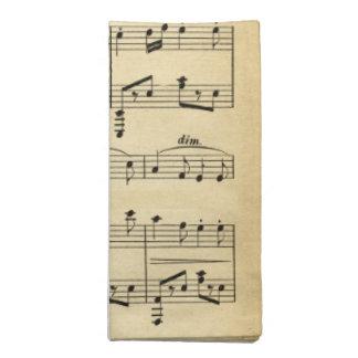 Antique Sheet Music Napkin