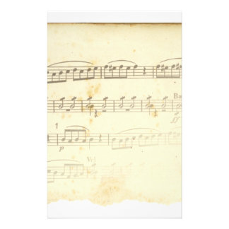 Antique Sheet Music Personalized Stationery