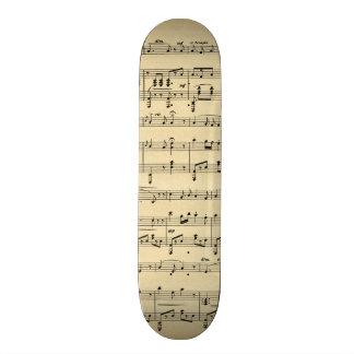 Antique Sheet Music Skate Board Decks