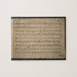 Antique Sheet Music, Song of the Old Man, 1822 Jigsaw Puzzle