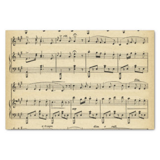 Antique Sheet Music Tissue Paper