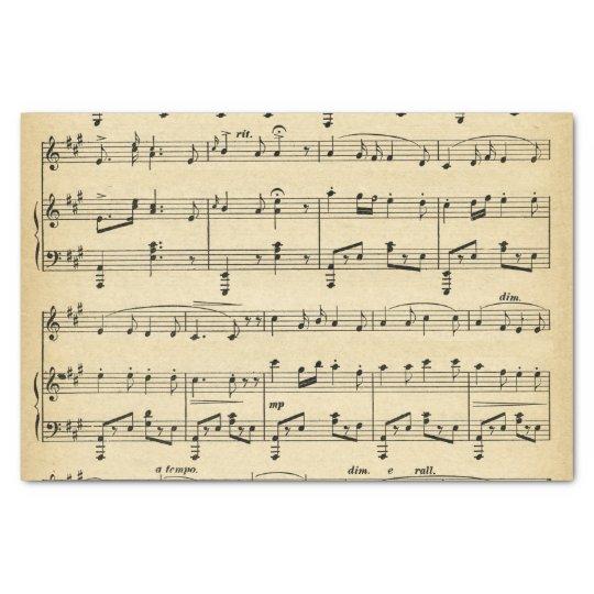 Antique Sheet Music Tissue Paper