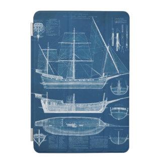 Antique Ship Blueprint I iPad Mini Cover