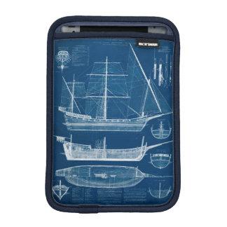Antique Ship Blueprint I iPad Mini Sleeve