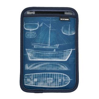 Antique Ship Blueprint II iPad Mini Sleeve