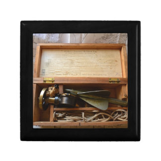 Antique Ship s Log Keepsake Box