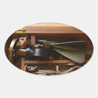 Antique Ship's Log Oval Sticker