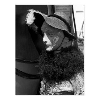 Antique Shop Mannequin, 1941 Postcard