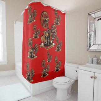 Antique shower curtain