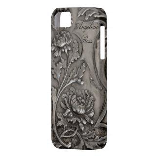 antique  silver iphone 5 case