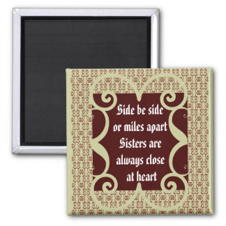 ANTIQUE  SISTERS MAGNET