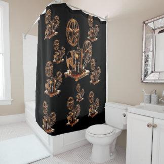 Antique soap box shower curtain