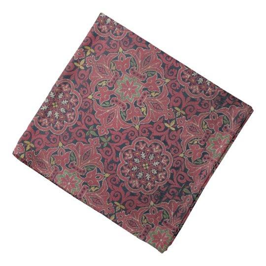 Antique Spanish Silk Pattern Bandanna