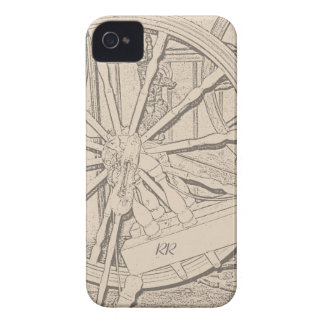 Antique Spinning Wheel Crafts Blackberry Bold Case iPhone 4 Cover