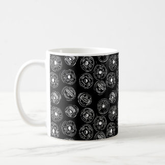 Antique Spools of Thread in Black Coffee Mug