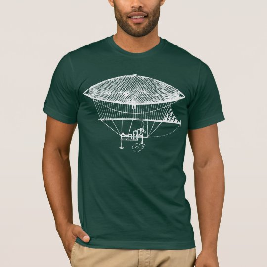 Antique Steampunk Airship Dirigible Shirt
