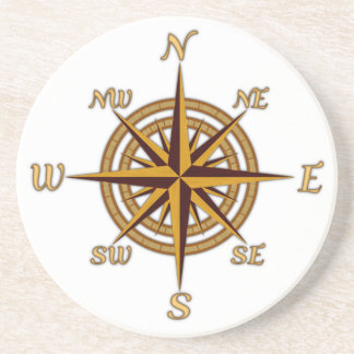 Antique Style Compass Rose Coaster