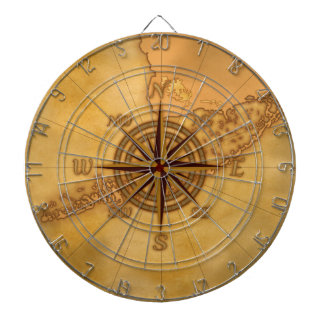 Antique Style Compass Rose Dartboard