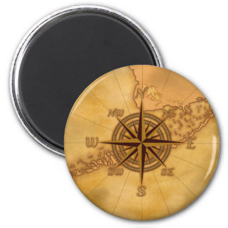 Antique Style Compass Rose Magnet